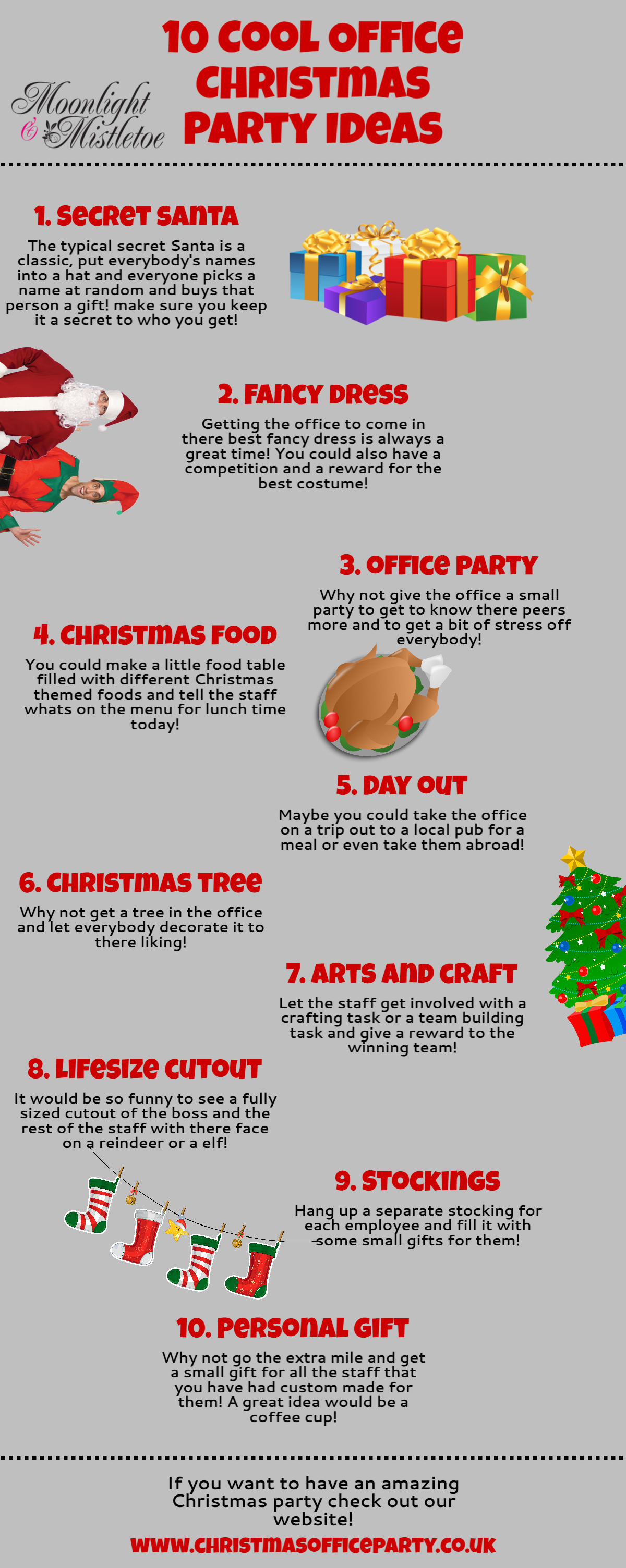 10 Cool Office Christmas Party Ideas | MoonlightMistletoe